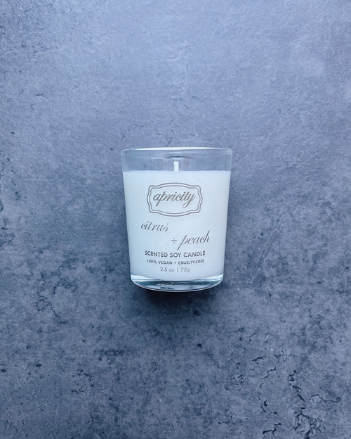 CITRUS + PEACH  (mini) | luxe scented soy candle