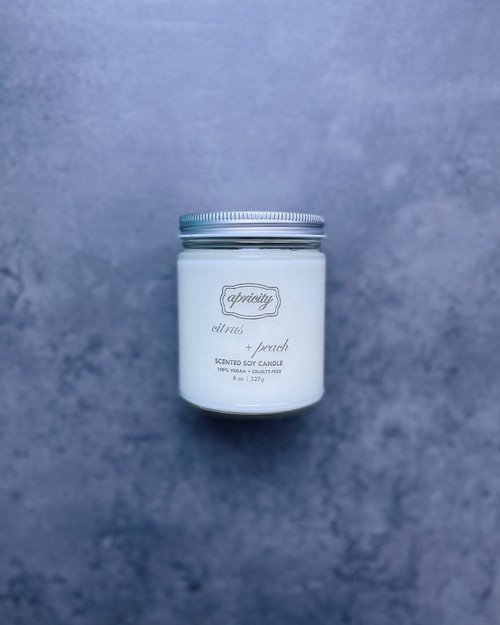 CITRUS + PEACH (standard) | luxe scented soy candle