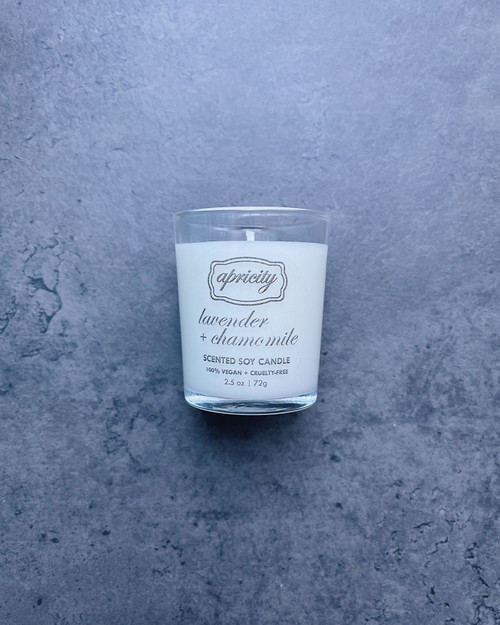 LAVENDER + CHAMOMILE (mini) | luxe scented soy candle