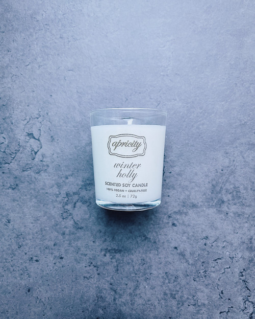 WINTER HOLLY  (mini) | luxe scented soy candle