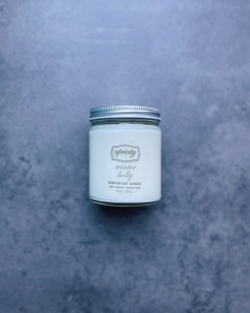 WINTER HOLLY (standard) | luxe scented soy candle