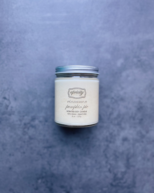 CINNAMON PUMPKIN PIE (standard) | luxe scented soy candle