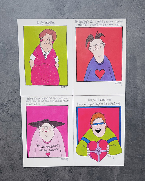 Set of 4 | VALENTINE'S DAY CARD