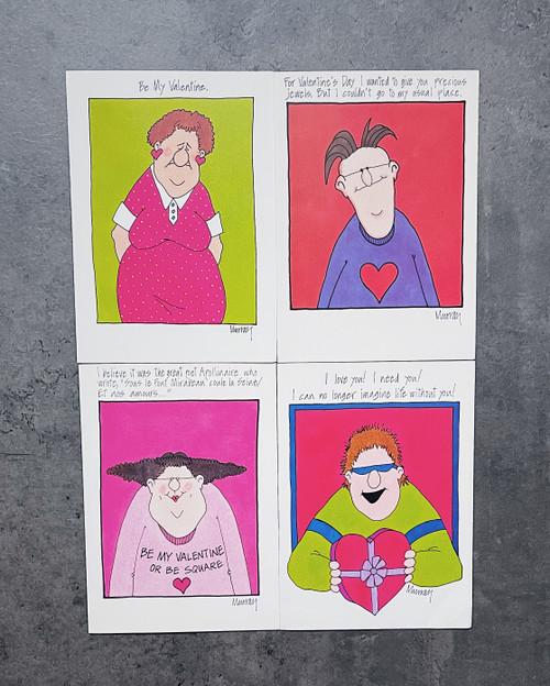 Set of 4 | VALENTINE'S DAY CARD