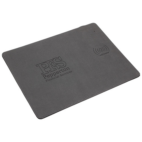 Leatherette Mouse Pad with 10W Fast Wireless Charger