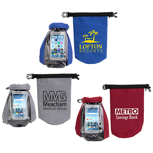 Waterproof Gear Bag with Touch-Thru Phone Pocket