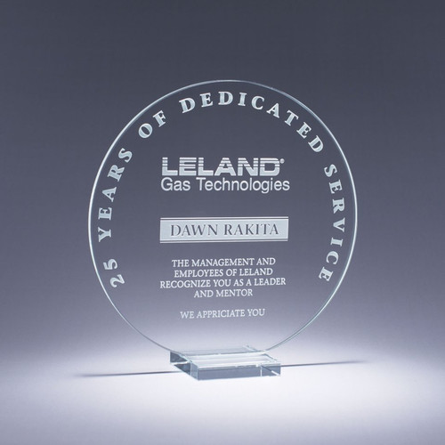 Serenity Starphire Crystal Award