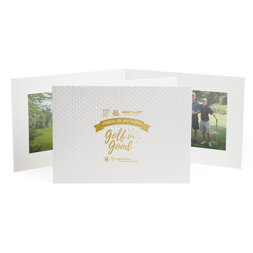 Golf Ball Texture Photo Folder - Double Landscape 4 x 6