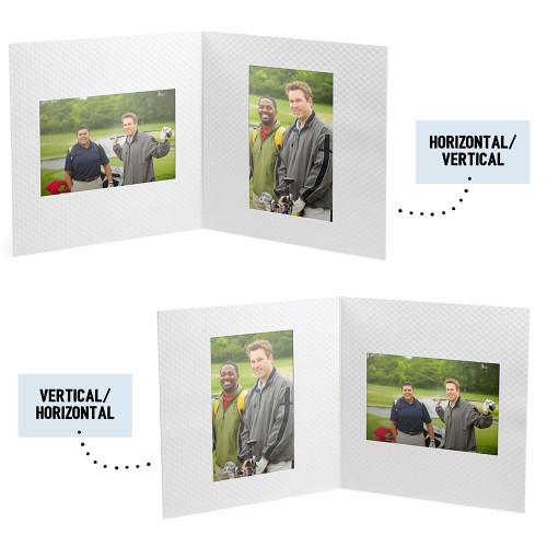 Golf Ball Texture Photo Folder - Double Landscape/Portrait 4 x 6