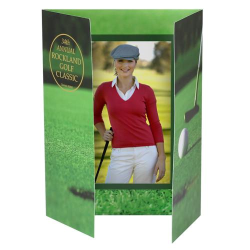 Golf Gatefold Photo Holder - Portrait or Landscape - 6 x 4 or 5 x 7 (PRINTED)