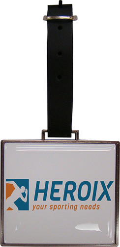 Rectangular Metal Photo Dome Bag Tag
