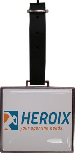 Rectangular Metal Photo Dome Bag Tag