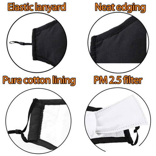 4 Layer Cotton Mask with Activated Carbon Filter