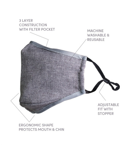 3 Ply Reusable Business Professional Face Mask