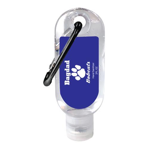 2 oz. Gel Hand Sanitizer Gel with Carabiner