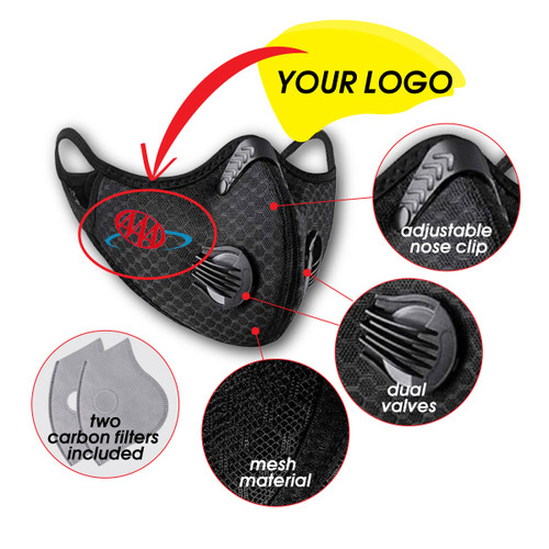 Valved Sport Mask with Carbon Filters