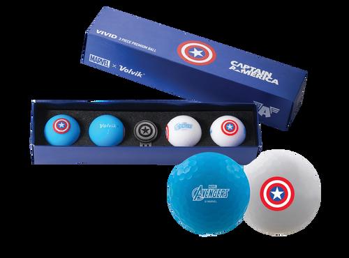 Captain America Marvel x Volvik Golf Pack