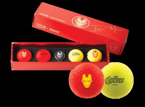Iron Man Marvel x Volvik Golf Pack