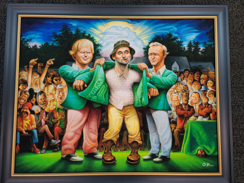 "Green Jacket: A Tribute to Carl Spackler (Framed Giclee Print 22"" x 28"")"