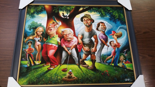 "Bushwood: A Tribute to Caddyshack (Framed Giclee Print 22"" x 28"")"