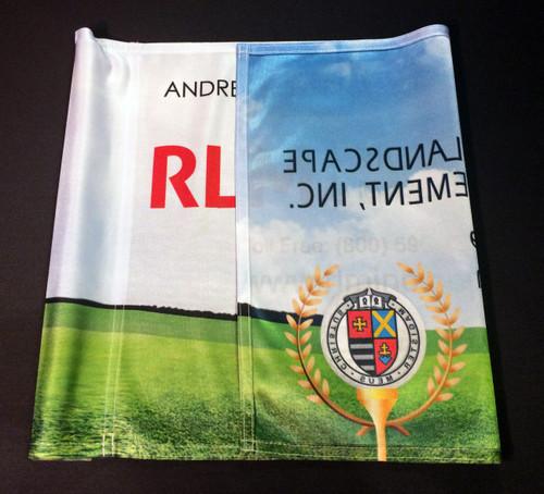 Lightweight Polyester Golf Flag - Single Sided Reverse Imprint - Universal Tube