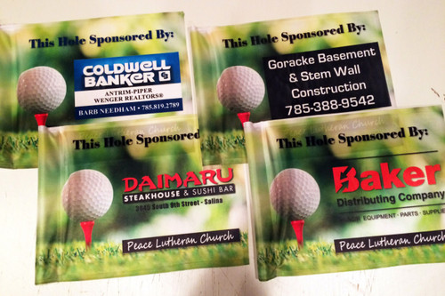 Sandwiched Polyester Golf Flag - Double Sided Imprint - Universal Tube