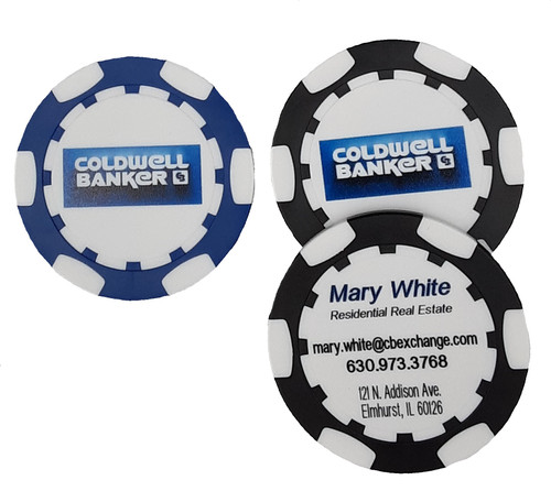 Direct Print Business Card Poker Chip (Unique Sides)