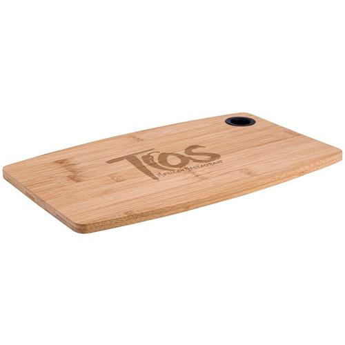 """13"""" Bamboo Cutting Board w/ Silicone Grip"""