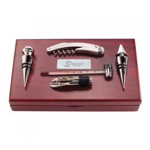 Rosewood Box with Stainless Steel Tools