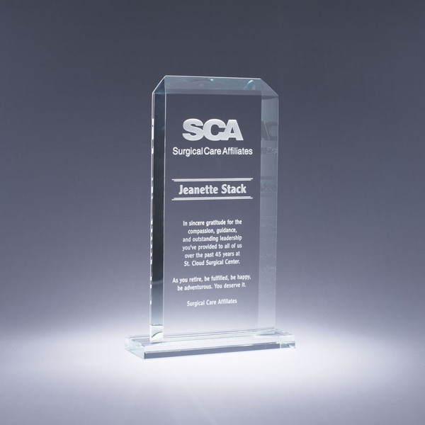 Classic Starphire Crystal Award