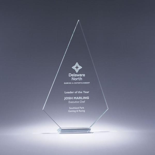 Prosperity Starphire Crystal Award