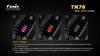 Fenix TK76 LED Flashlight LED Power Display