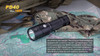 Fenix PD40 LED Flashlight on a Map