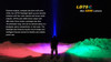 Fenix LD75C Multi-Color LED Flashlight Color Modes