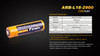 Fenix ARBL18 High-Capacity 18650 Battery - 2900mAh