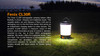 Fenix CL30R LED Camping Lantern Description