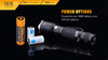 Fenix TK15 Ultimate Edt. LED Flashlight Batteries