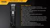 Fenix PD40R LED Flashlight Specs