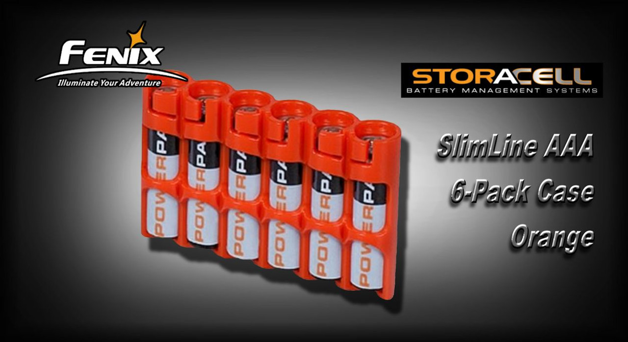 Storacell Slimline Aaa 6 Pack Case Orange Gear For Life