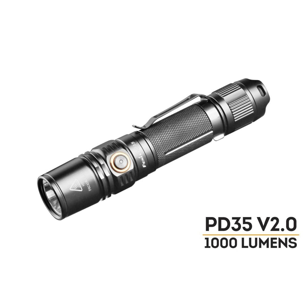 Fenix PD35TAC LED Tactical Compact EDC Flashlight Edition  Black 1000 Lumens