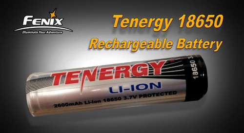 18650 Tenergy Rechargeable Battery 2600 mAh