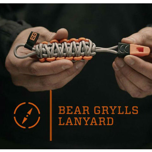 Bear Grylls Paracord Lanyard with Whistle