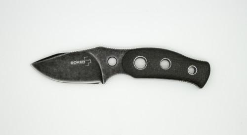 Boker Plus Bandit Knife Carbon Fiber Fixed Blade, Stonewash
