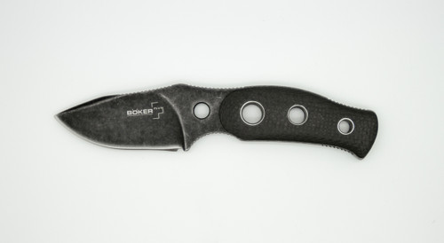 Boker Plus Bandit Knife Carbon Fiber Fixed Blade, Stonewash