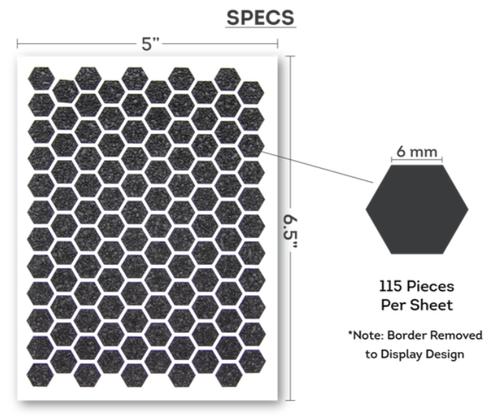 Honeycomb Pattern Per Sheet