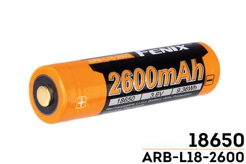 Fenix ARBL18 Rechargeable Li-ion Battery - 2600mAh