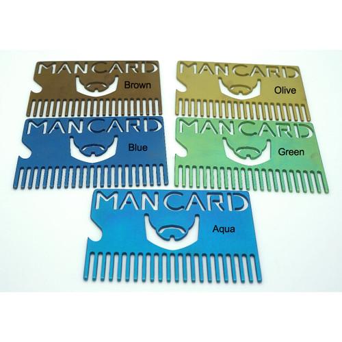 Spectrum Energetics Bearded Man Card - Anodized Titanium