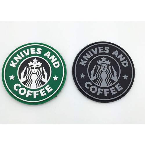 Knives and Coffee PVC Morale Patch - 3 inch