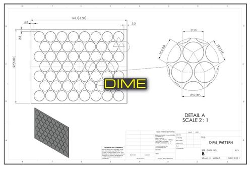 Dime Pattern Per Sheet