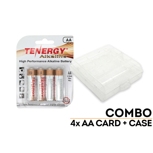 4-Pack Battery Case and Batteries: AA